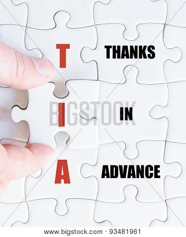 Last Puzzle Piece With Business Acronym Tia