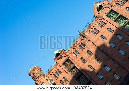 The world famous Speicherstadt in Hamburg
