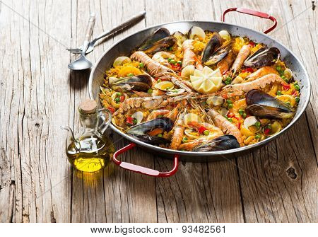 Traditional Spanish Food Paella