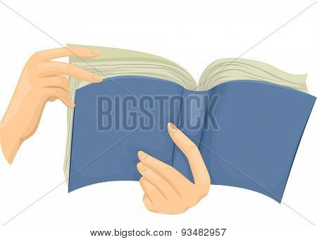Cropped Illustration of a Hand Flipping Through the Pages of a Book