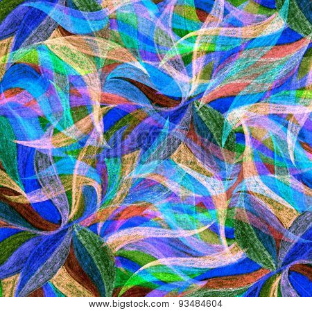 Abstract color pencil draw background