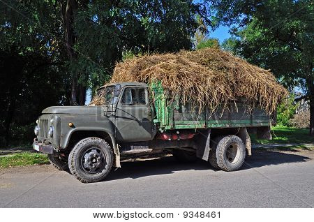 Lorry with hay