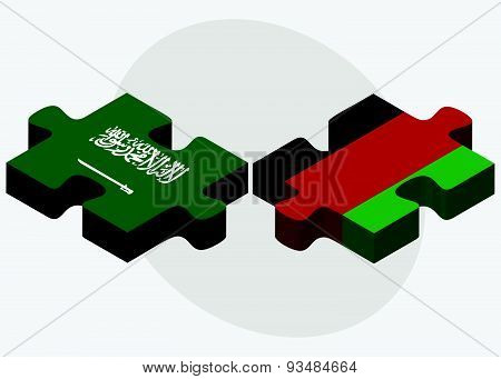 Saudi Arabia And Afghanistan Flags