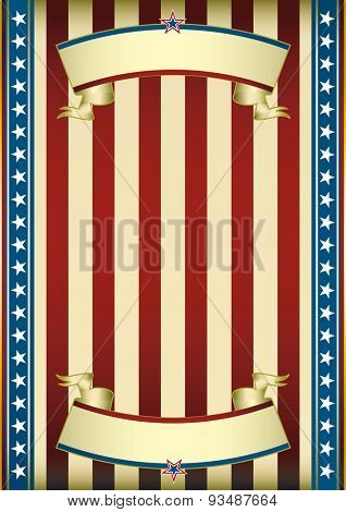 American old poster. Old american background for you