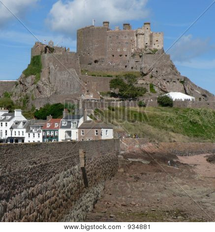 Mount Orgueil Castle Over Gorey Harbour