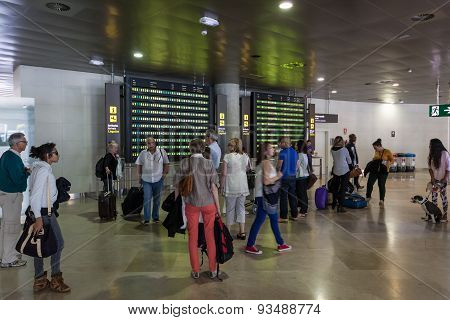 Passengers Waiting For The Flight