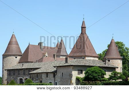 Castle of Corcelles en Beaujolais, France