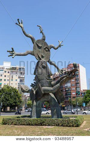 Statue In Valencia, Spain