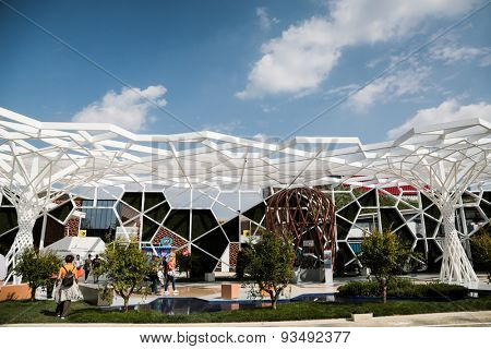MILAN, ITALY - May 26: Turkey pavilion at Milan Expo, universal exposition on the theme of food on May 26, 2015 in Milan, Italy.