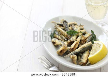 deep fried anchovies, boquerones fritos, acciughe fritte