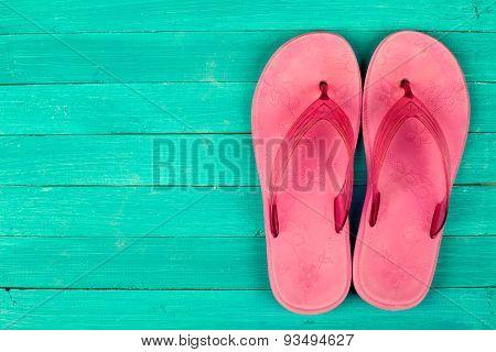 Bright flip-flops