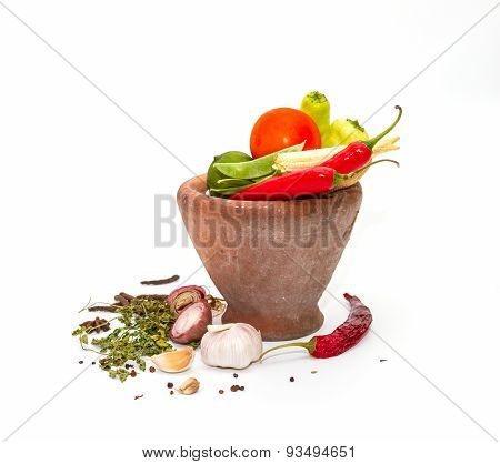 Spices,herbs,food And Cuisine Ingredients Background.