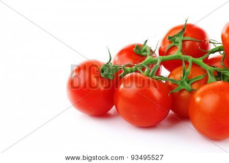 Group of cherry tomatoes isolated on white