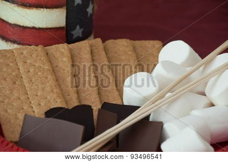 4Th Of July S'mores