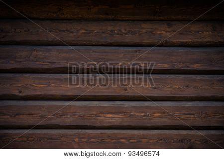 Dark Wood Logs Wall