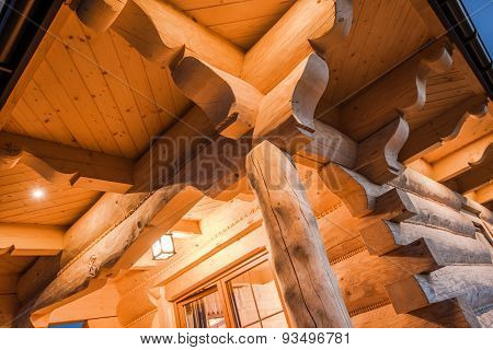 Illuminated Log Cabin