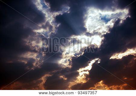 Stormy Sky Sun Rays