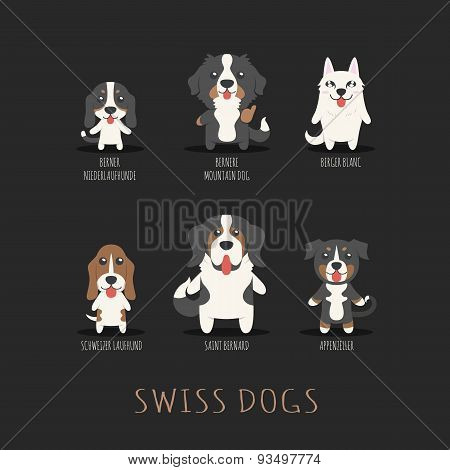 Set Of Swiss Dogs