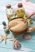 image of salt-bowl  - Spa or wellness setting - JPG