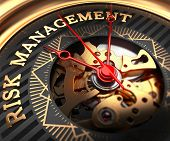 stock photo of watch  - Risk Management on Black - JPG