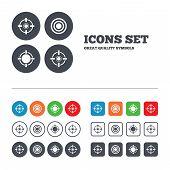 stock photo of shooting-range  - Crosshair icons - JPG