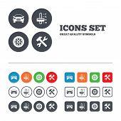 foto of transportation icons  - Transport icons - JPG