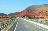 foto of atlas  - morocco highway outdoor view and atlas mountains landscape - JPG