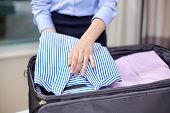 stock photo of carry-on luggage  - business - JPG