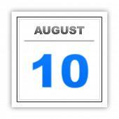 foto of august calendar  - August 10 - JPG