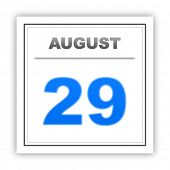 image of august calendar  - August 29 - JPG