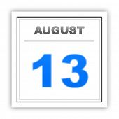 picture of august calendar  - August 13 - JPG