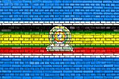 Flag Of Eac Painted On Brick Wall poster