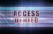 picture of denied  - Access Denied on a Tech Business Chart Art - JPG