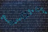 image of binary code  - business intelligence software - JPG