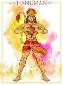 picture of sita  - illustration of Lord Hanuman on abstract background - JPG