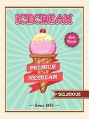 stock photo of ice cream parlor  - Vintage menu card design for delicious Ice Cream - JPG