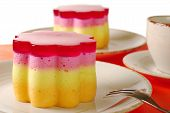 pic of torta  - Peruvian colorful small cakes called  - JPG