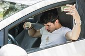foto of driver  - Young Man Having a Bad Day - JPG
