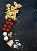stock photo of pasta  - Food frame - JPG