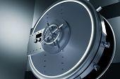 stock photo of vault  - Huge Safe Bank Vault - JPG