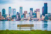 picture of washington skyline  - Seattle Vista Bench - JPG