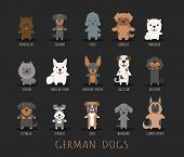 image of doberman pinscher  - Set of german dogs eps10 vector format - JPG