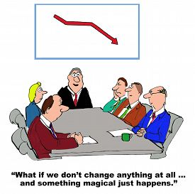 stock photo of change management  - Business cartoon of meeting - JPG