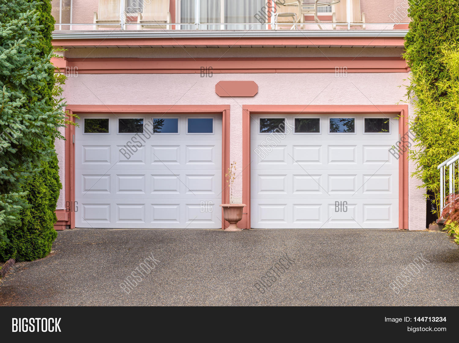 1121 #A7A324 Garage Door In Vancouver Canada. Stock Photo & Stock Images  pic Entry Doors Canada 45711500
