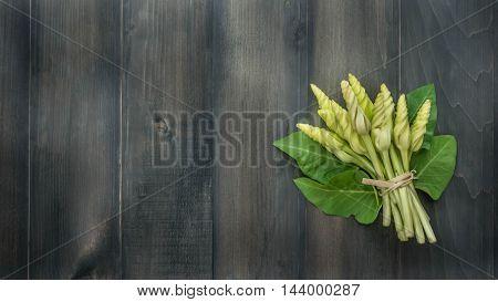 Moonflower On Wooden
