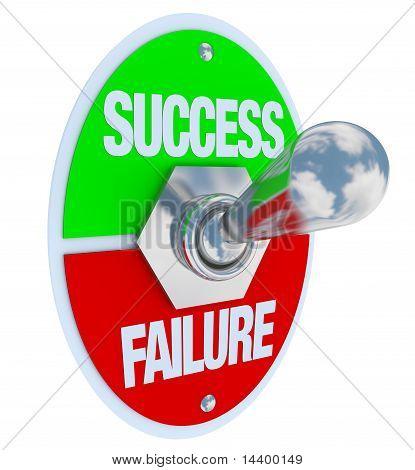 Éxito Vs fracaso - interruptor