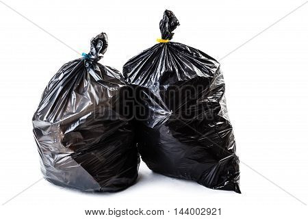 Black Garbage Bag Isolated