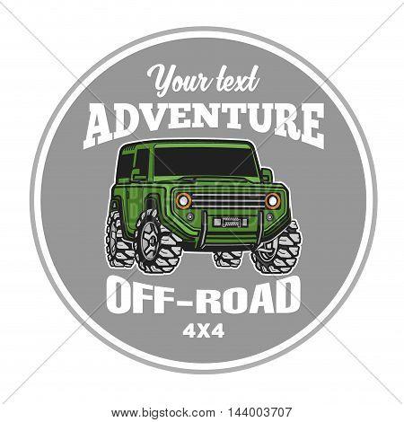 off-road suv car emblems badges and icons. Rock crawler car