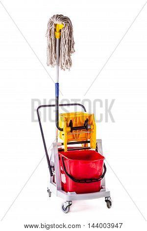 Mop Bucket Isolated