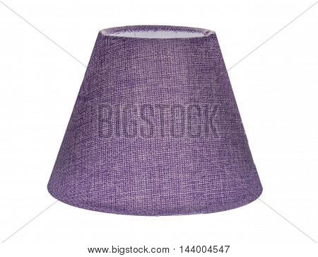 the lampshade without lamp isolated on white background